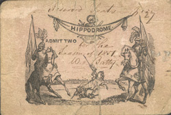 Ticket for the Hippodrome